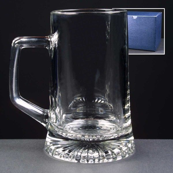 Stern Glass Tankard In Blue Cardboard Gift Box - From £9.35 Including Engraving