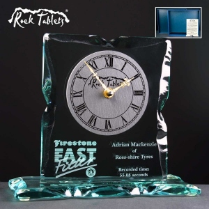 Caledonian Clock Rock Tablet In Blue Cardboard Gift Box - £108.90 Including Engraving