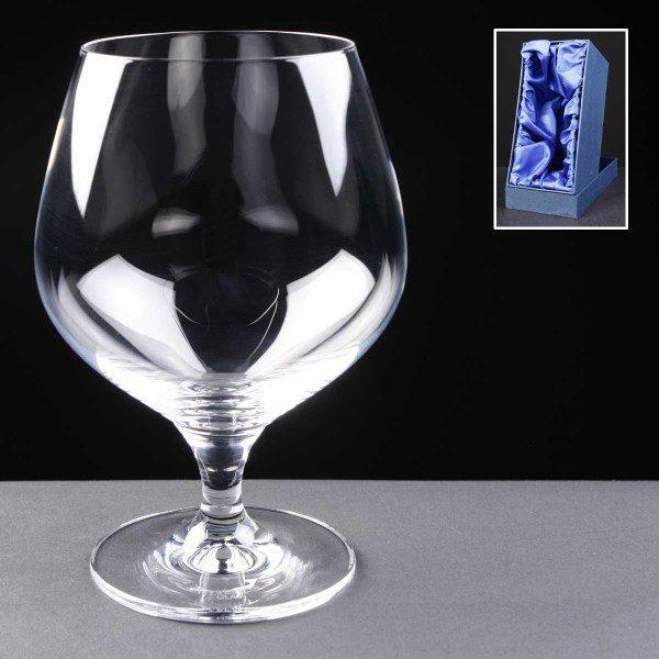 Schott Zwiesel Engraved Brandy Glasses Supplied In Satin Lined Presentation Box