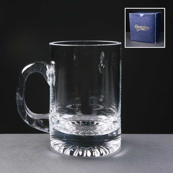 Balmoral Glass Tankard In Blue Cardboard Gift Box - From £17.65 Including Engraving