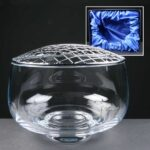 Balmoral Glass Engraved Rose Bowl In Presentation Box