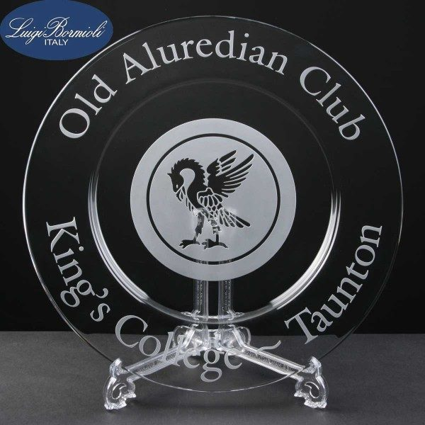Classico Glass Plate In Cardboard Box - £23.75 Including Engraving