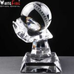 Whitefire Optical Crystal Cricket Ball In Hand Supplied In Velvet Lined Presentation Box - £61.25