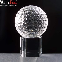 Whitefire Optical Crystal Golf Ball With Base Supplied In Velvet Lined Presentation Box - From £28.80