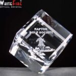 Whitefire Optical Crystal Balancing Cube Supplied In Velvet Lined Presentation Box - From £12.80