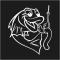 Fish With Worm Logo