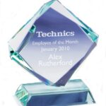 Jade Glass Award In Presentation Box - From £18.45 Including Engraving