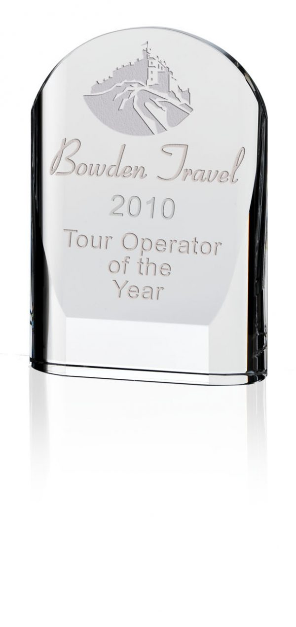 Arched Crystal Award In Presentation Box - From £22.70 Including Engraving