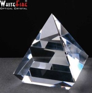 *STAR BUY* Whitefire Optical Crystal Elevated Pyramid Supplied In Velvet Lined Presentation Box - From £22.55